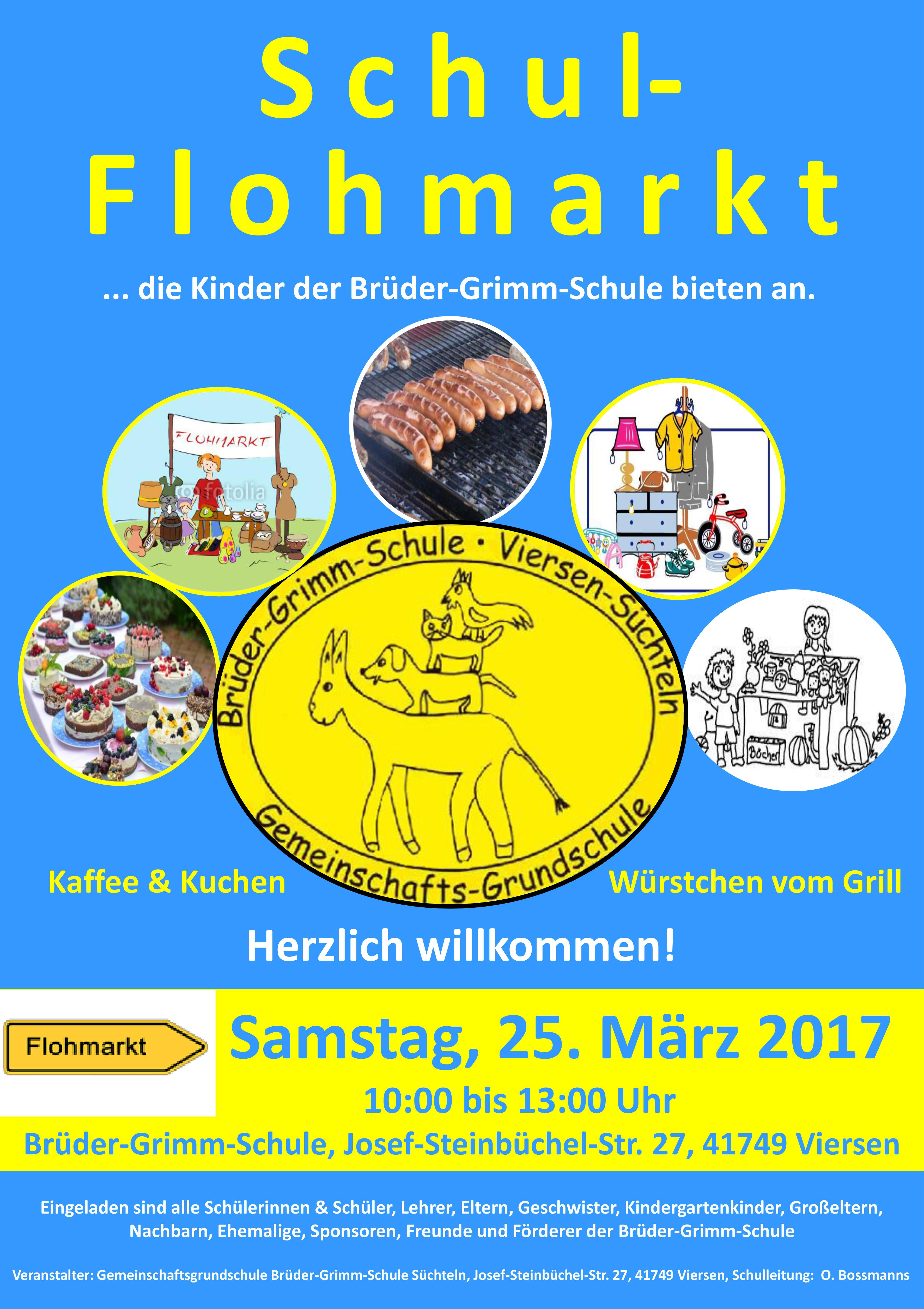 Flohmarkt Plakat Flyer